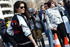 Barbara Martelo in THAT Saint Laurent bomber jacket