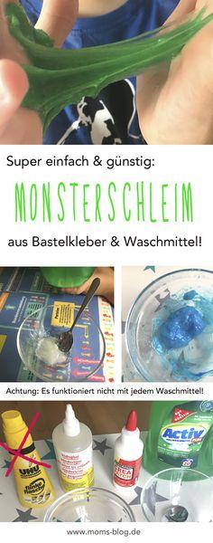 Ein tolles Experiment für Kinder: Bastelkleber + Waschmittel = DIY - Glibber / Slimy / Schleimi! Wie es genau geht und mit welchem Kleber/Waschmittel es am besten funktioniert erfahrt ihr hier: http://www.moms-blog.de/slimy-schleim-selber-machen/ #slimy #schleim #fubber #glibber