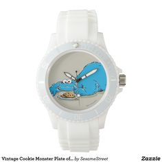 Shop Vintage Cookie Monster Plate of Cookies Watch created by SesameStreet. Vintage Shops, Retro Vintage, Presents For Kids, Vintage Cookies, Cookie Monster, Cool Gifts, Michael Kors Watch, Stationary, Quartz