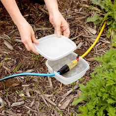 TEMPORARY Extension Cord Protection from the Family Handyman! The Family Handyman Temporary Extension Cord Protection - If you're having a party or some other event in the yard and you need additional electricity sources, here's a Camping Ideas, Camping Hacks, Camping Supplies, Outdoor Camping, Outdoor Travel, Travel Trailer Camping, Camping In The Rain, Camping Jokes, Camping Guide
