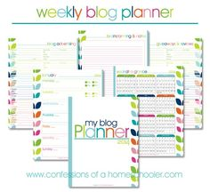 Free printable blogging planner for 2014