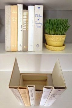 Hide your internet modem (or other shelved eyesores) by creating a bookcase cover compartment.