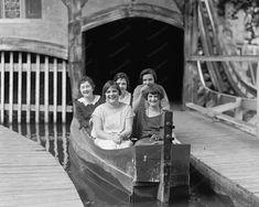 Glen Echo Amusement Park Love Tunnel 1920s Old Photo