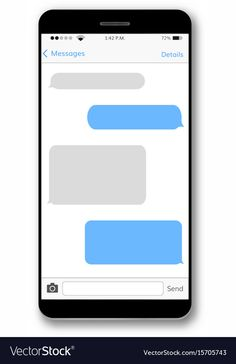 Blank iPhone Text Message Bubble Template Text message