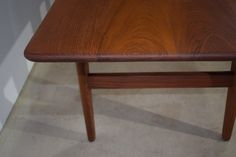 Danish mid century solid teak coffee table, Illum Wikkelsø, Model J & E
