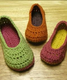 My favorite pattern EVER! These slippers are the bomb and super easy to make