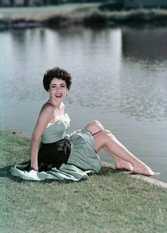 Liz Taylor it's cold and grey here in England. Dreaming of warmer days withElizabeth Taylor.