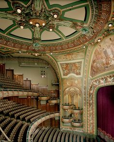 The New Amsterdam Theatre, 1902-1903 by Herts & Tallant, New York City. Art Nouveau Architecture