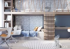 VAREZHKI HOUSE on Behance Teen Bedroom Designs, Kids Bedroom, Room Interior, Home Interior Design, Jugendschlafzimmer Designs, Futuristisches Design, Lit Simple, Kids Room Design, Behance