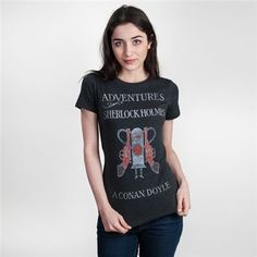 Adventures of Sherlock Holmes womens literary t-shirt | Outofprintclothing.com