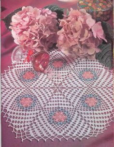 Free pattern in English for 'Six-Part Harmony' Doily….