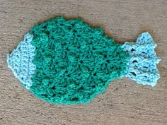 This is a dish cloth but wouldn't it make adorable bath cloth gifts for baby or for a fish themed bathroom?