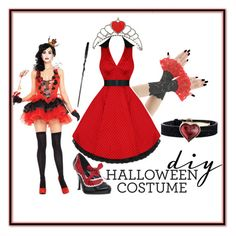 """Queen of Hearts"" by sum1smuse ❤ liked on Polyvore featuring Funtasma, Lalique, halloweencostume and DIYHalloween"