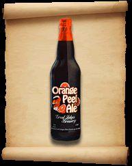 Cerveja Orange Peel Ale, estilo American Amber Ale, produzida por Great Lakes Brewing Company , Canadá. 5.3% ABV de álcool.