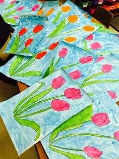 Color It Like you MEAN it!: Sweet kinder tulips!