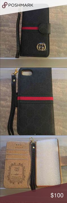 iPhone 7 plus phone case Never used iPhone 7 plus card case with card slot holder. Accessories Phone Cases