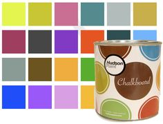 Chalkboard paint -- I was just talking about this...NEED some