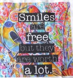 Smiles are free inspirational T  Shirt by KreatingKismet on Etsy