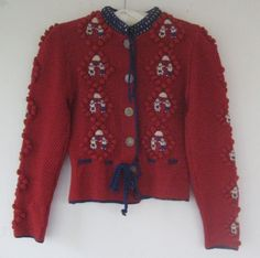 Vintage Knitting, Hand Knitting, 1940s Fashion, Vintage Fashion, Vintage Outfits, Vintage Clothing, Novelty Print, Workwear, 1930s