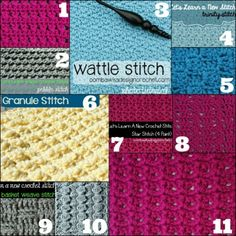 New Crochet Stitches for the New Year