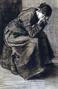 Woman Mourning, 1883  by Vincent van Gogh  Expresa una emoción Exhibe un punto de vista individual Pertenece a estilos reconocibles