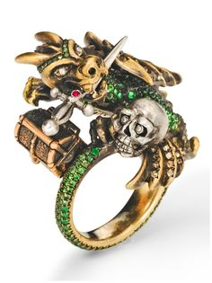 Wenddy Brandes Dragon and Knight Maneater ring.