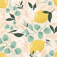 """Lovely Lemons Removable 5' x 20"""" Floral Wallpaper"""