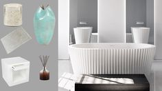 These pieces from kellyhoppen.com match perfectly with my Origami bath from @apaiser