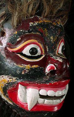 Masks From Around the World    Bali & Java    Old Javanese Demon Mask    Topeng Dance Drama, Java, Indonesia