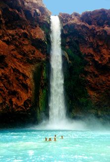 Another favorite place: Havasupai, the Grand Canyon. This is part of the Grand Canyon National Park and also home to the Supai Indians. Fall Vacations, Vacation Destinations, Vacation Spots, Havasupai Falls, Vacation Wishes, Beautiful Places, Amazing Places, Adventure Is Out There, The Great Outdoors