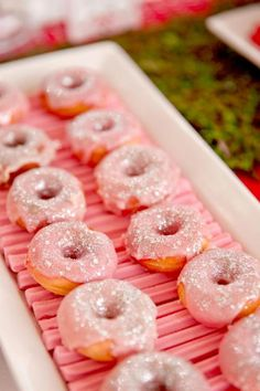 "I have to remember pink frosted doughnuts...one of my daughter's favorites! Plus I think it would be a bigger hit than scones. ""Fairy Pillows"""