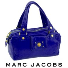 Marc Jacobs Totally Turnlock Purple Benny Satchel
