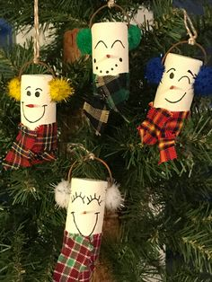 Snowman wine cork ornament by WillowDezigns on Etsy