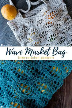 Free Crochet Bag, Crochet Market Bag, Crochet Tote, Crochet Handbags, Crochet Purses, Crochet Crafts, Crochet Stitches, Crochet Hooks, Crochet Projects