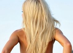 such a pretty blonde color, nut i am staying my brunette with my natural auburn highlights(: <3