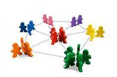 Social Media gebruiken is netwerken. Net als 'in real life'alleen dan 'online'.  Mensen communiceren met mensen. Dus ook op de diverse sociale netwerken