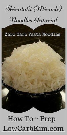 Zero Carb Pasta Low Carb Pasta Shirataki Konjac Miracle Noodles Trim Healthy Mama THM Fuel Pull
