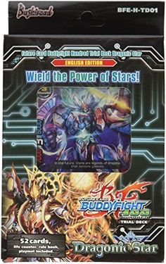 Collectible Trading Card Gameplay Accessories - Future Card Buddyfight trial Deck H01 Dragonic Star Card Game ** Learn more by visiting the image link.