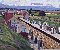 Spencer Gore 'Letchworth Station' 1912  The Camden Town Group