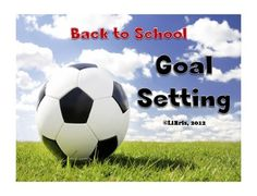 Free goal setting worksheets for back to school.