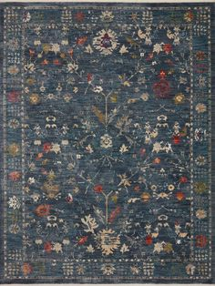 Giada Denim / Multi Rug Rug Studio, Space Crafts, Round Rugs, Traditional Rugs, Power Loom, Cool Rugs, Blue Area Rugs, Small Rugs, Colorful Rugs