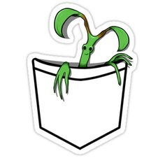 Take your own personal Pocket Bowtruckle, Pickett, on a journey with you. / Warning: Prone to having attachment issues. • Also buy this artwork on stickers, apparel, phone cases, and more.