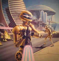 """Dedicated to all things """"geek retro:"""" the science fiction/fantasy/horror fandom of the past including pin up art, novel covers, pulp magazines, and comics. 80s Sci Fi, 70s Sci Fi Art, Sci Fi Fantasy, Fantasy World, Cyberpunk, Sci Fi Kunst, Science Fiction Kunst, Arte Sci Fi, Pub Vintage"""