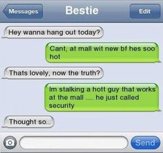 Funny text - Want to hang out - http://www.jokideo.com/