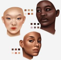 Digital Painting Tutorials, Digital Art Tutorial, Art Tutorials, Skin Color Palette, Palette Art, Ipad Art, Art Poses, Art Reference Poses, Art Drawings Sketches