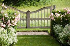 So diggin' this gate. Garden Doors, Garden Gates, Garden Bridge, Heaven's Gate, Fence Gate, House Gate Design, Entrance Gates, Front Gates, Bloom Where You Are Planted