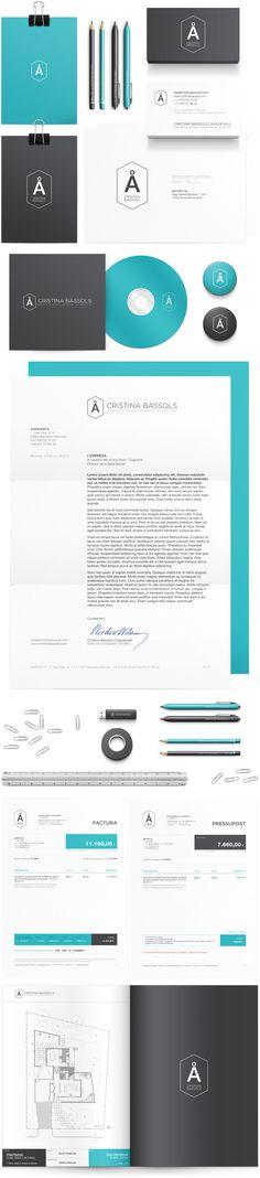 Full brand design for architect & engineer Cristina Bassols, designed by Antitipo.