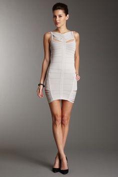 Sleeveless Bodycon Dress with Mutli-Strap Detail