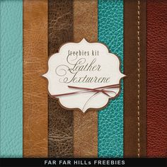 Far Far Hill - Free database of digital illustrations and papers: New Freebies Kit of Backgrounds - Leather Texture