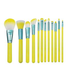 Yellow and Blue 12-Piece Brush and Wrap Set